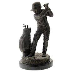 C. Keliem - The Golfer - Bronze Sculpture.