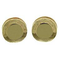 Pair of 14k Yellow Gold Earrings.