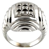 14 Karat White Gold & Diamond Ring