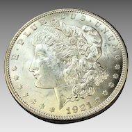 1921 Morgan Dollar MS63 Philadelphia Mint