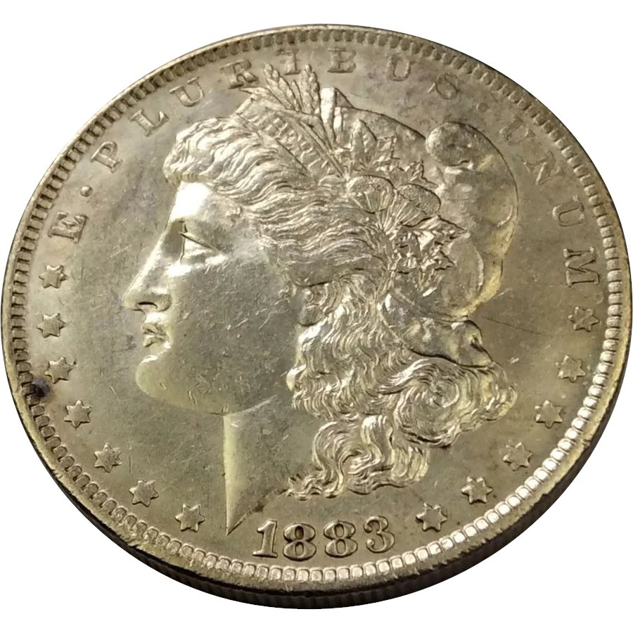 1883 O Morgan Silver Dollar Au 58 New England Estate