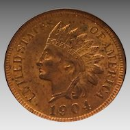 Beautiful 1904 MS63 RB Indian Cent NGC