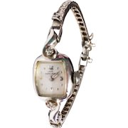 Vintage Lady Hamilton 1940s14K White Gold & Diamond Watch