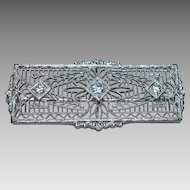 14k Edwardian Era Diamond Pin