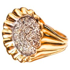 1.50 Carats of Diamonds In Flashy 14k Gold Ring