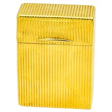 Vintage 18k Yellow Gold Cigarette Tobacco Box