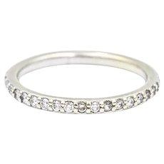 18k Diamond Eternity Band Ring 1/3 Carat Total Weight