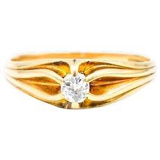 Art Deco Era 1/4 Carat Solitaire Diamond Ring 14k