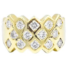 1 3/4 Carats Of Diamond 18k Band Ring