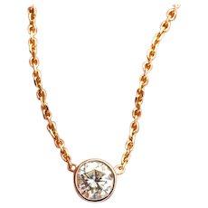 14k 0.75 Carat Diamond Pendant Necklace