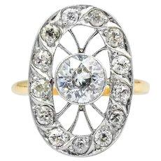 Edwardian 14k Two-Tone Gold 1.10 CTW Diamond Ring