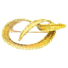 Tiffany & Co. 18k Yellow Gold Weave Pin Brooch
