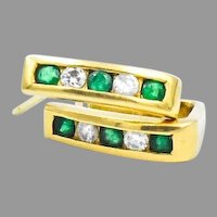 McTeigue 18k Emerald Diamond Earrings