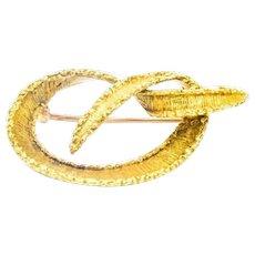 Estate Tiffany & Co. 18k Yellow Gold Weave Pin Brooch