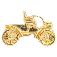 14k Antique Car Pin/Badge