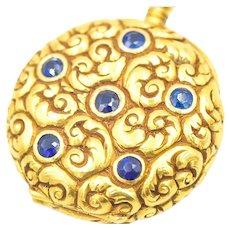 Antique 1800's Victorian Era Ladies 18k Gold Pocket Watch