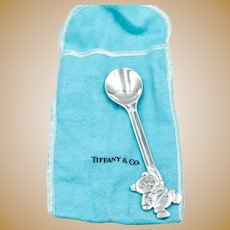 Tiffany & Co. Sterling Silver Bear Spoon 1992 With Pouch