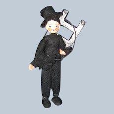 German BAPS Chimney Sweep Doll c 1940's