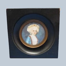 Hand Painted Miniature signed Maury c 1880-90's