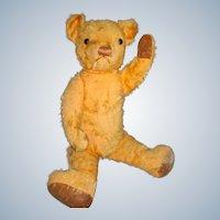 Mohair Teddy Bear with glass eyes c 1930-40's