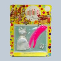 "Premier Doll Things Outfit on Original Card for 6 1/2"" dolls"