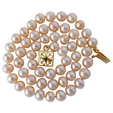 Wedding party jewelry cultured fresh water pearl necklace