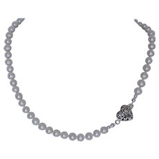Bridal/wedding party jewelry fresh water cultured pearl necklace