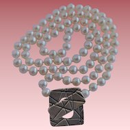 Cultured fresh water pearl necklace