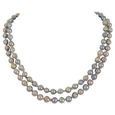 "Bridal jewelry ""Big Tail"" Akoya salt water cultured pearl necklace"