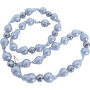 South Sea cultured pearl and white gold necklace