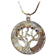 Tree of Life pendent with gold chain