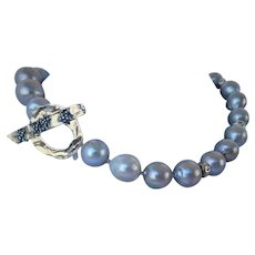 Fresh water cultured Edison  pearl necklace