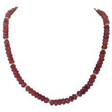 Carnelian and Karat gold necklace