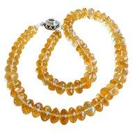 Citrine bead necklace