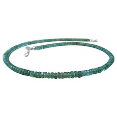 Kyanite faceted bead necklace