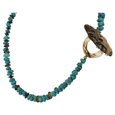 American Turquoise nugget necklace