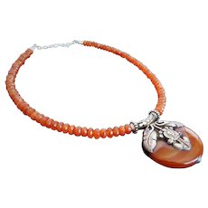 "Bohemian ""Boho"" fashion carnelian agate necklace"