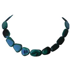 Malachite bead necklace jewelry ruby lane malachite bead necklace aloadofball Choice Image