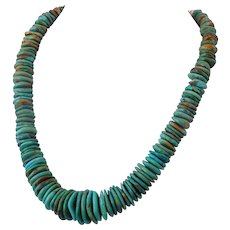 Vintage American Turquoise disk beads