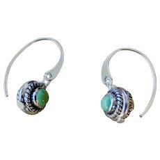 Carico Lake and sterling silver earrings