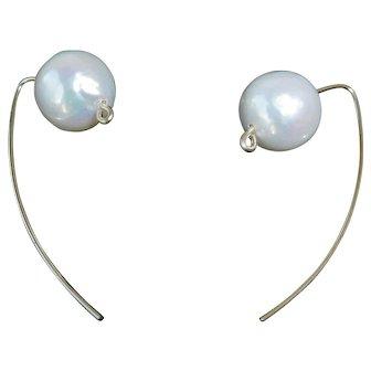 Fresh water cultured pearl earrings