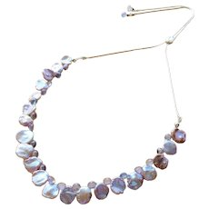 Tanzanite and fresh water pearl necklace