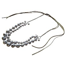"Native American ""Navajo Pearls"" sterling silver necklace"