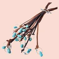 South West style suede and Turquoise necklace