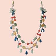 Southwest style gemstone necklace