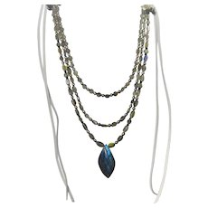 Multi strand Labradorite gemstone necklace