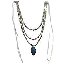 Multi strand Labradorite gemstone necklace