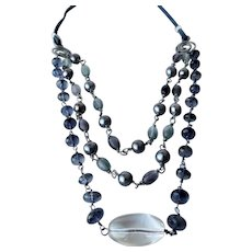 Southwest style blue gemstone necklace