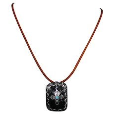 Sterling silver pendant with American Turquoise stone