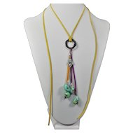 Native American, Navajo charm and American Turquoise nugget pendant